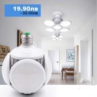 Сгъваема LED лампа с форма на футболна топка 40W
