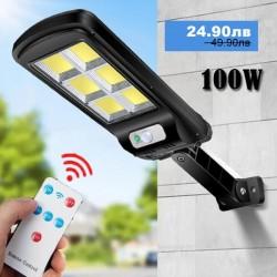 LED Соларна лампа COB със сензор за движение с дистанционно